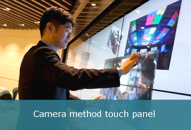 Camera method touch panels